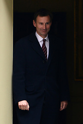 © Licensed to London News Pictures. 01/05/2012. London, UK . Jeremy Hunt Minister for Culture, Media and Sport.  Cabinet ministers leave the Cabinet Meeting on 1st May 2012. Photo credit : Stephen Simpson/LNP