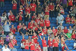 Bristol City fans at Hillsborough Stadium - Mandatory byline: Dougie Allward/JMP - 07966386802 - 08/08/2015 - FOOTBALL - Hillsborough Stadium -Sheffield,England - Sheffield Wednesday v Bristol City - Sky Bet Championship