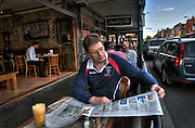 Victorian Premier Ted Baillieu after one year in office. Having breakfast at a Glenferrie rd cafe in Hawthorn. Pic By Craig Sillitoe CSZ/The Sunday Age.21/11/2011 melbourne photographers, commercial photographers, industrial photographers, corporate photographer, architectural photographers, This photograph can be used for non commercial uses with attribution. Credit: Craig Sillitoe Photography / http://www.csillitoe.com<br />