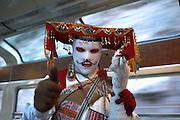 Entertainer on Cusco-Machu Picchu train  Peru