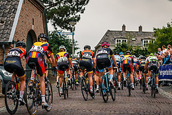 Peloton at the Muur van Zeddam during 2017 National Road Race Championships Netherlands for Women Elite, Montferland, The Netherlands, 24 June 2017. Photo by Pim Nijland / PelotonPhotos.com | All photos usage must carry mandatory copyright credit (Peloton Photos | Pim Nijland)