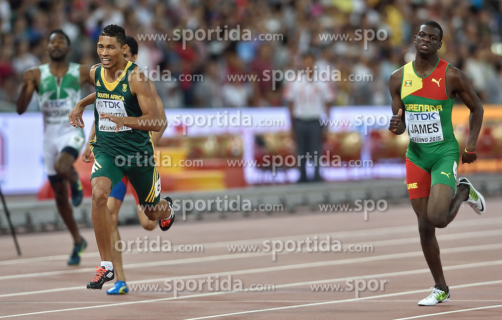 26-08-2015 CHN: IAAF World Championships Athletics day 5, Beijing<br /> Winner Wayde van Niekerk (South Africa Republic) at 400m Men<br /> Photo by Ronald Hoogendoorn / Sportida