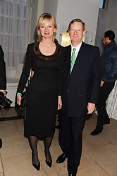 The EARL & COUNTESS OF DERBY at a reception to present the new Cartier Tank Watch Collection held at The Orangery, Kensington Palace Gardens, London W8 on 19th April 2012.