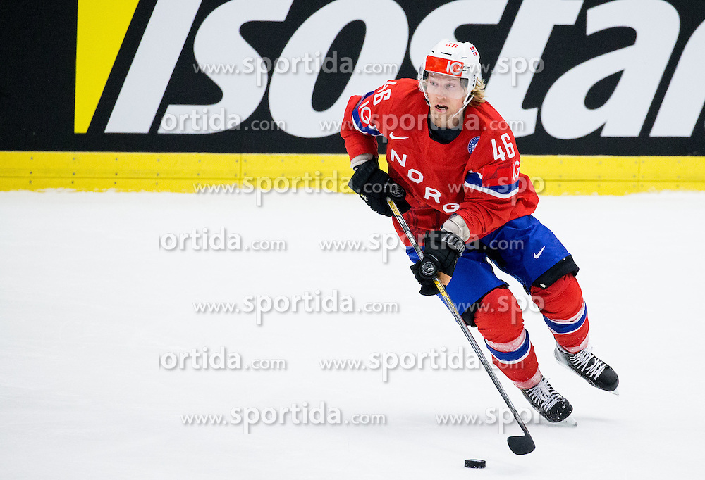 Mathis Olimb of Norway during Ice Hockey match between Russia and Norway at Day 1 in Group B of 2015 IIHF World Championship, on May 1, 2015 in CEZ Arena, Ostrava, Czech Republic. Photo by Vid Ponikvar / Sportida