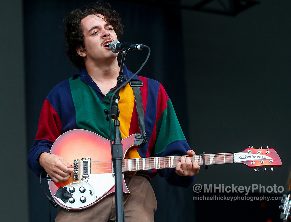 CHICAGO, IL - AUGUST 04: Rob Grote of The Districts performs at Grant Park on August 4, 2017 in Chicago, Illinois. (Photo by Michael Hickey/Getty Images) *** Local Caption *** Rob Grote
