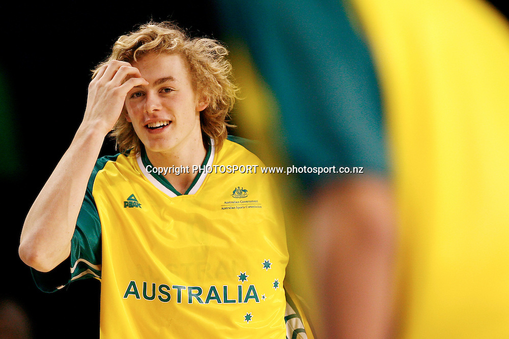 Australia's Hugh Greenwood. U19 Basketball World Championship, 3rd and 4th place game, Australia v Croatia, North Shore Events Centre, Auckland. 12 July 2009. Photo: Anthony Au-Yeung/PHOTOSPORT