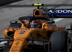 October 21, 2018 - Austin, USA - McLaren driver Stoffel Vandoorne (2) of Belgium exits the pit area during the Formula 1 U.S. Grand Prix at the Circuit of the Americas in Austin, Texas on Sunday, Oct. 21, 2018. (Credit Image: © Scott Coleman/ZUMA Wire)