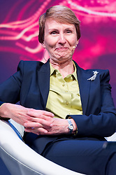 &copy; Licensed to London News Pictures. 28/09/2017. London, UK.  The first British astronaut in space, Helen Sharman appears for the first time on same stage with NASA Apollo 15 American pilot Al Worden and British European Space Astronaut Tim Peake<br /> at the New Scientist Live event.  The three legendary astronauts are from different era's. Photo credit: Ray Tang/LNP