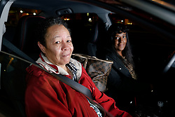 Linda Jacobs-Bailey of SouthWest Philadelphia is the first passenger pick-ed up in the morning by Junanita Bynum. (Bastiaan Slabbers/for PhillyVoice)