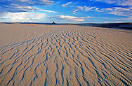 Killpecker Sand Dunes and Boars Tusk in the Red Desert. Great Basin, Wyoming