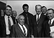 12/07/1972<br /> 07/12/1972<br /> 12 July 1972<br /> Muhammad Ali meets Taoiseach Jack Lynch at Leinster House, Dublin.