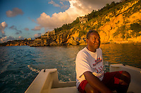 Anguilla - January 6, 2015: A water taxi returns the secluded cove of Little Bay in Anguilla. CREDIT: Chris Carmichael for The New York Times