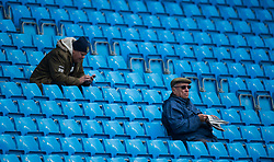 MANCHESTER, ENGLAND - Saturday, October 21, 2017:  Manchester City Fans before the FA Premier League match between Manchester City and Burnley at The Etihad. (Pic by Peter Powell/Propaganda)