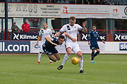 14th September 2019; Dens Park, Dundee, Scotland; Scottish Championship, Dundee Football Club versus Alloa Athletic; Penalty claim for Dundee as Cammy Kerr of Dundee is brought down by Scott Taggart of Alloa Athletic