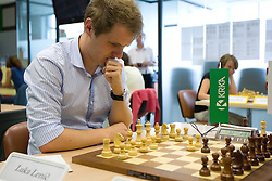 Slovenian Grandmaster Lenic Luka in action during the National Chess Championships in Ljubljana on August 9, 2010.  (Photo by Vid Ponikvar / Sportida)