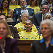 ANNAPOLIS, MD - FEB19: A packed joint hearing room at the General Assembly of Maryland, February 19, 2016, as panelists testify for and against a bill to give patients with terminal illnesses an end of life choice. (Photo by Evelyn Hockstein/For The Washington Post)