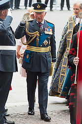 © Licensed to London News Pictures. 10/07/2018. London, UK. HRH The Prince off Wales attends a service at Westminster Abbey to make the100th anniversary of the Royal Air Force at Westminster Abbey. The RAF, the world's first independent air force was founded on 1 April 1918, independent of the British Army and Royal Navy. Photo credit: Ray Tang/LNP