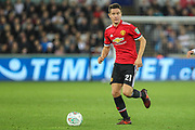 Ander Herrera of Manchester United during the EFL Cup match between Swansea City and Manchester United at the Liberty Stadium, Swansea, Wales on 24 October 2017. Photo by Andrew Lewis.