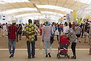 Visitors to Expo 2015 along the Decumanus, the main avenue of the universal exposition, Rho-Pero, Milan, in June 2015. &copy; Carlo Cerchioli<br /> <br /> Visitatori di Expo 2015 lungo il Decumano, il viale principale dell'esposione universale, Rho-Pero, Milano, giugno 2015.