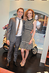 ELEANOR TOMLINSON and her brother ROSS TOMLINSON at the Kate Spade NY hosted Chelsea Flower Show Tea Party held at Kate Spade, 2 Symons Street, London on 23rd May 2013.