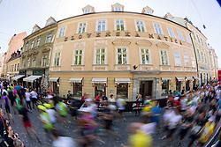 Runners during running race Tek trojk et event Pot ob zici, on May 10, 2014, at Kongresni trg in Ljubljana, Slovenia. Photo by Vid Ponikvar / Sportida