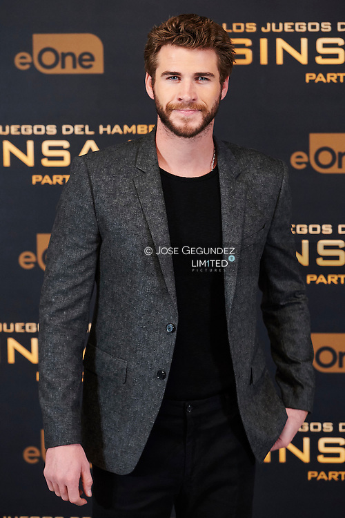 Liam Hemsworth attended the 'Hunger Games: Mockingjay Part 2' Photocall at Villamagna Hotel on November 10, 2015 in Madrid