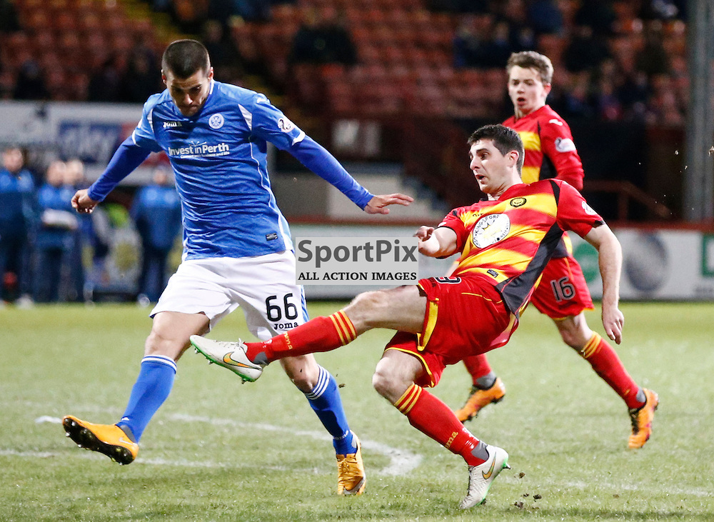 Partick Thistle v St.Johnstone in the Ladbrokes Premiership.... Kris Doolan (Partick Thistle) scores ....(c) STEPHEN LAWSON | SportPix.org.uk