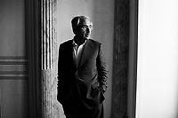 """Palermo, Italy - 20 July, 2012: President of the Sicilian Region Raffaele Lombardo, 61, poses otuside his office after an interview at Palazzo d'Orleans, headquarters of the Presidency of the Sicilian Regional Assembly on 20 July, 2012, in Palermo, Italy.<br /> <br /> Mario Monti has expressed """"serious concerns"""" that Sicily's regional government is heading towards default and has asked its governor – who is under investigation for suspected links to the Mafia – to confirm his intention to resign. Sicily was among 23 Italian """"sub-sovereign entities"""" downgraded by Moody's rating agency on Monday, a development that has raised the possibility of a chain of defaults at the local level unless the central government intervenes. Sicily's debt was €5.3bn at the end of 2011, according to Bloomberg. Mr Monti, Italy's technocratic prime minister, indicated in his statement on Tuesday that Rome would take action to bail out Sicily's debts. Sicily has long been identified as one of the most poorly managed of Italy's regions, with the public sector accounting for the bulk of the island's economy and jobs. Commentators call it """"Italy's Greece""""."""