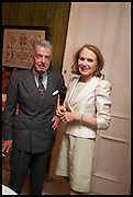NICKY HASLAM; EVA DUGDALE-PENOT; , Nicky Haslam hosts a party to launch a book by  Maureen Footer 'George Stacey and the Creation of American Chic' . With a foreword by Mario Buatta. Kensington. London. 11 June 2014
