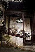A decorative stairwell in Yu Yuan Gardens Shanghai, China