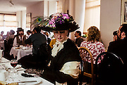 James Joyce's Bloomsday, when Dubliners plays characters of Ulysses. Joycean Breakfast at Southbank café, Sandycove,