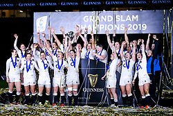 England Women celebrate winning the Women's Six Nations - Mandatory by-line: Robbie Stephenson/JMP - 16/03/2019 - RUGBY - Twickenham Stadium - London, England - England Women v Scotland Women - Women's Six Nations