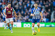 Daniel Drinkwater (Aston Villa) & Neal Maupay (Brighton) during the Premier League match between Brighton and Hove Albion and Aston Villa at the American Express Community Stadium, Brighton and Hove, England on 18 January 2020.