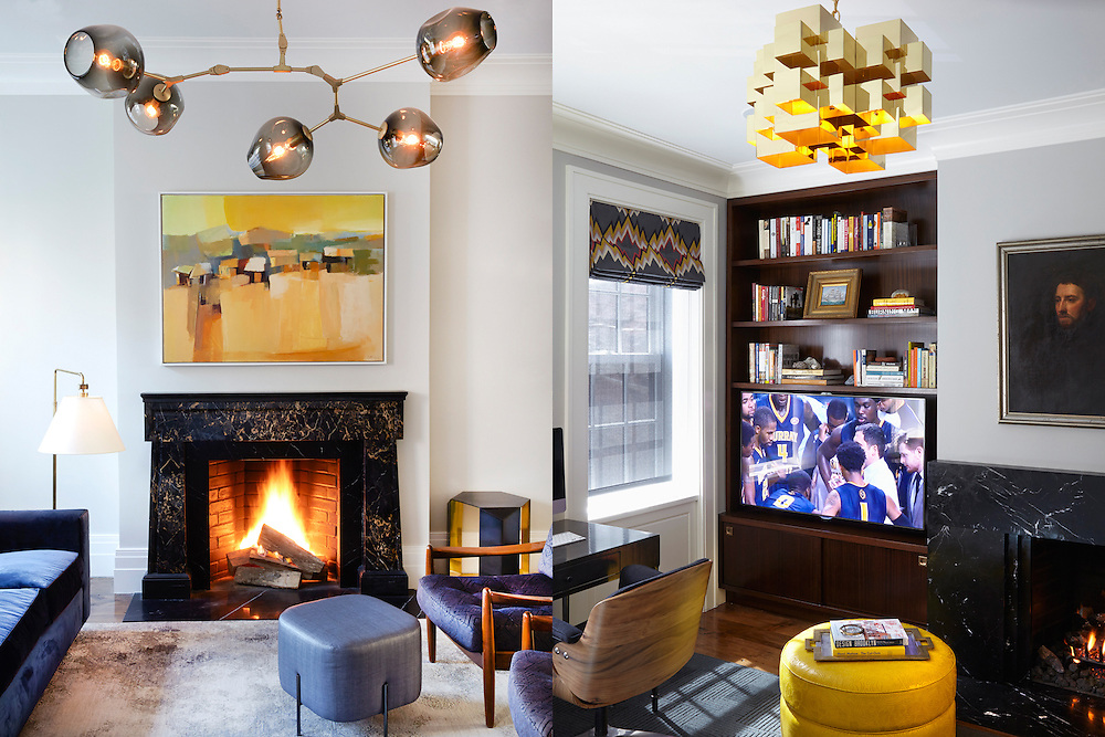 Brooklyn Heights Town House. Living Room and Den. Architect: CWB Architects. Designer: CWB Architects