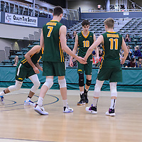 Cougars during the Men's Volleyball Home Game vs Trinity Western  on October 28 at the CKHS University of Regina. Credit Matt Johnson/Arthur Images