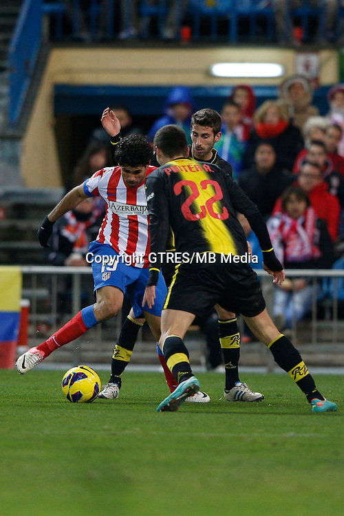 13.01.2013 SPAIN -  La Liga 12/13 Matchday 19th  match played between Atletico de Madrid vs Real Zaragoza (2-0) at Vicente Calderon stadium. The picture show  Diego da Silva Costa (Brazilian midfielder of At. Madrid)