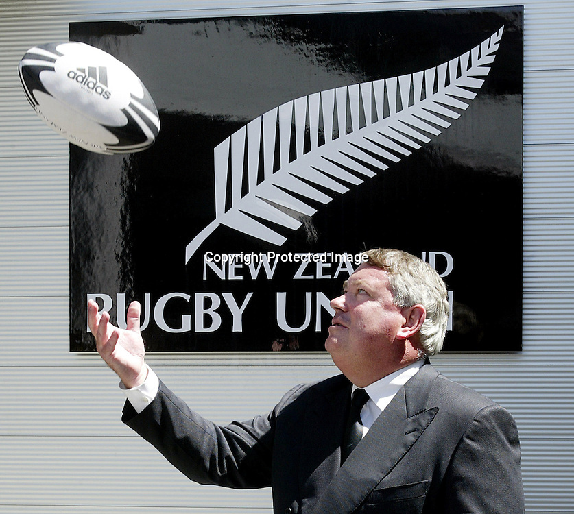 16 December 2002, Rugby Union HQ, Wellington.<br />New NZRFU CEO.<br />New NZRFU CEO Chris Moller outside at the NZRFU HQ in Wellington.<br />Pic: Marty Melville/Photosport