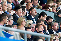 Football - 2016 / 2017 Premier League - Swansea City vs. West Bromwich Albion<br /> <br />  Swansea City 's US owners Jason Levien , top, & Welsh owners Huw Jenkins & Martin morgan watch from the stands <br /> <br /> COLORSPORT/WINSTON BYNORTH