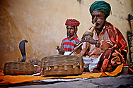 Snake Charmers in Jaipur, India. <br />