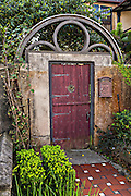 Old gate in the historic district in St. Augustine, Florida. St Augustine is the oldest city in America.