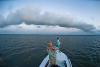 Fishing the Laguna Madre for trout and redfish off the Texas Gulf Coast.