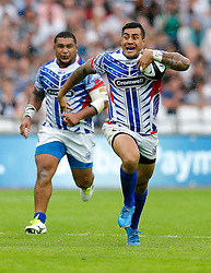 Samoa Fly-Half Tusi Pisi in action - Mandatory byline: Rogan Thomson/JMP - 07966 386802 - 29/08/2015 - RUGBY UNION - The Stadium at Queen Elizabeth Olympic Park - London, England - Barbarians v Samoa - International Friendly.