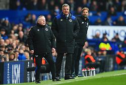 Everton manager Sam Allardyce watches with coach Sammy Lee - Mandatory by-line: Matt McNulty/JMP - 07/04/2018 - FOOTBALL - Goodison Park - Liverpool, England - Everton v Liverpool - Premier League