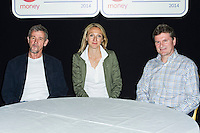 Steve Jones, Paula Radcliffe and Eamonn Martin,  Virgin London Marathon: British Marathon Greats, The Tower Hotel, LONDON, 10th April 2014, Photo by Raimondas Kazenas