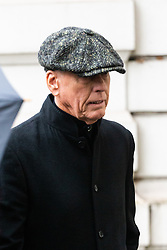 Crime boss Terry Adams arrives at Westminster Magistrates Court in London where he faces a confiscation hearing. London, February 04 2019.