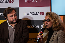 December 17, 2018 - Rome, italy, Italy - Director of the National Roman Museum Dr. Daniela Porro during the Press conference on the first 5G network on December 17, 2018 in Rome, Italy. At the Terme di Diocleziano, the first scenario for the use of Virtual Reality and Augmented Reality applied to the tourism sector in the field of 5G technology experimentation in the city presented by Roma Capitale, Fastweb and Ericsson on Rome, Italy, 17 December 2018. (Credit Image: © Andrea Ronchini/NurPhoto via ZUMA Press)