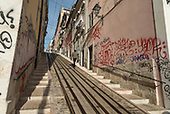 Portugal. Lisbon. Bica area,  ascensor da Bica ,