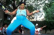 Girls dancing, Notting Hill Carnival, UK, 2000's