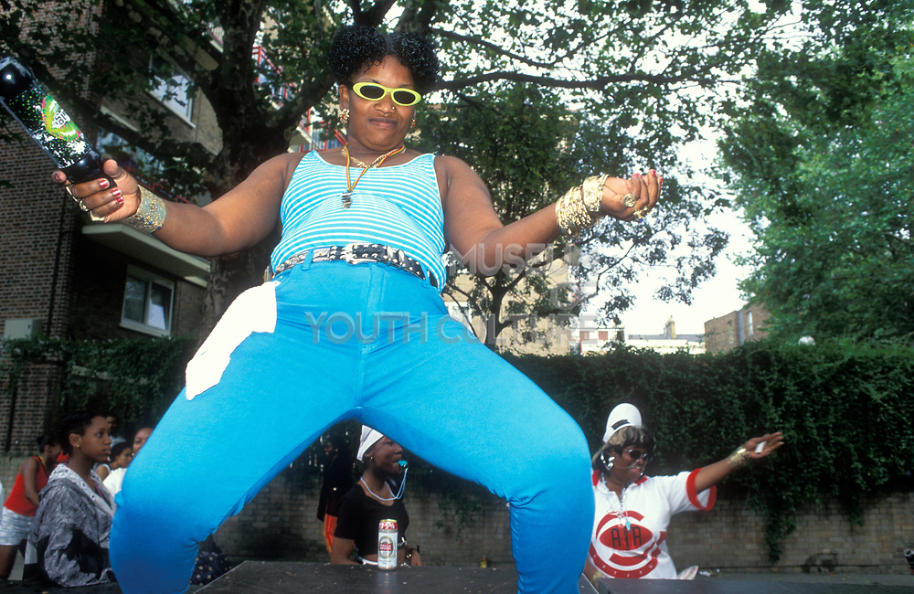 Girls dancing, Notting Hill Carnival, UK, 2000's