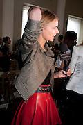 JACQUETTA WHEELER, Julian Macdonald fashion show. Banqueting House. London. 19 September 2010. -DO NOT ARCHIVE-© Copyright Photograph by Dafydd Jones. 248 Clapham Rd. London SW9 0PZ. Tel 0207 820 0771. www.dafjones.com.